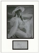 Mabel Love Autograph Signed Display